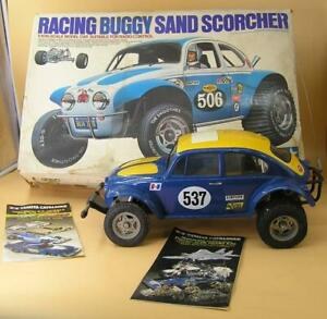 VINTAGE TAMIYA RACING BUGGY SAND SCORCHER RC 1:10 CAR MODEL KIT #RA1016-BUILT-VN