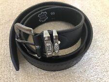 Levis 501 Men's Black Leather Belt 120cm long