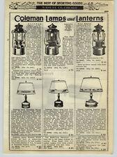 1938 PAPER AD Coleman Lamp Lantern Sad Iron Cook Stove