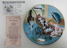 Hamilton Collection Country Kitties Series - Stroller Derby Collectors Plate Coa
