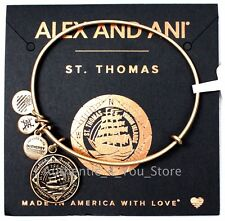 NEW ALEX AND ANI St. Thomas Virgin Islands Boat Exclusive GOLD Bangle Bracelet