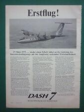 6/75 PUB DE HAVILLAND AIRCRAFT CANADA DASH 7 FIRST FLIGHT ERSTFLUG GERMAN AD