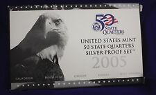 2005 U.S. Mint SILVER 50 State Quarter Proof Set. In original GRAY box.