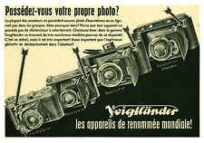Publicité ancienne appareil photo Voigtländer No 5 1942 issue de magazine