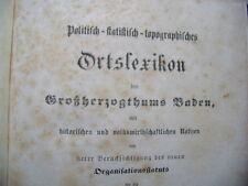 Politisch-statistisch-topographisches Ortslexikon Großherzogthums Baden 1865