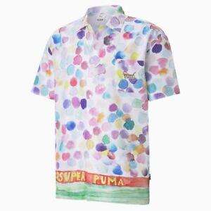 PUMA x KidSuper AOP White Shirt Limited Edition Men's Sz L 598953-02 RARE New
