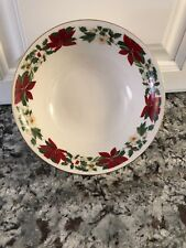 Gibson POINSETTIA HOLIDAY bowls Christmas Holiday Dinnerware  PER Pc