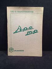Manuale  PIAGGIO APE MP Uso e Manutenzione quarta edizione