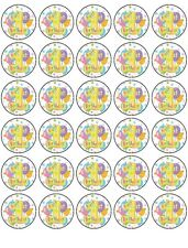 30X 1st BIRTHDAY PREMIUM EDIBLE DECOR WAFER PAPER FAIRY CUPCAKE CAKE TOPPERS D1
