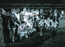 1984 UEFA CUP SPURS HAND SIGNED BY 12 PHOTO AUTOGRAPH COA TOTTENHAM HOTSPUR