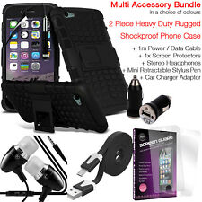 Heavy Duty Tough Shockproof Phone Case+Accessory Pack for HTC DESIRE 650