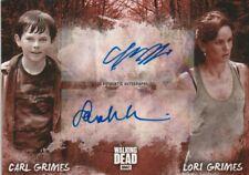 Walking Dead Road Alexandria Chandler Riggs Sarah Wayne Callies Dual Autograph