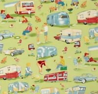 Michael Miller Trailer Travel Camp Fabric Sold by Quarter of a METRE W44""