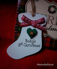 Boots Personalised HandmadeBaby ornament-1st xmas