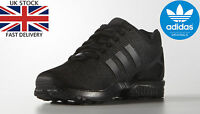 Adidas Originals Mens ZX Flux Trainers Lace Up Black Running Shoes