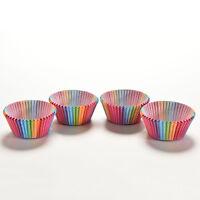 100X Coloré Arc-En-Ciel En Papier Gâteau De Cuisson Muffin Cup Case Par#