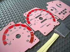 92-95 Manual MT Honda Civic EX LX IS Cluster Pink Face White Glow Through Gauges