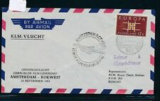 08871) Niederlande KLM FF Amsterdam - Kuwait 25.9.63, SoU
