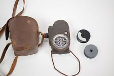 Bell & Howell Filmo Double Run 8mm Movie Cine Camera Model 134-G w/ Leather Case