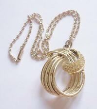 Crystal Gold Necklace Vintage Costume Jewellery (1950s)