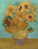 Vincent van Gogh - Sunflowers  Painitng Canvas Print wall home Decor