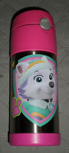 VGUC Thermos Funtainer Paw Patrol 12-Ounce Straw Bottle - Pink