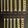 925 Sterling Silver Solid Miami Cuban Curb Link Chain Bracelet Yellow Gold