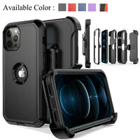 For iPhone 12 ,12 Pro Max Shockproof Defender Phone Armor Case Cover+Belt Clip