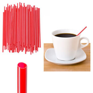 1000 Pc Cocktail Coffee Sipping Straws Drink Stirrers Disposable Mix Colors Bars