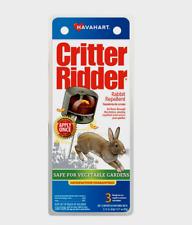 New! Havahart CRITTER RIDDER Rabbit Repellent Vegetable Garden 3 Stations CR5600