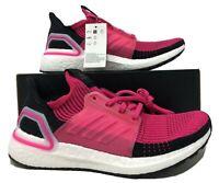Womens Adidas UltraBoost 19 Running Shoes Shock Pink/Black G27485 $180.00 NEW