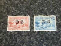 AUSTRALIA POSTAGE STAMPS SG0123-0124 2D & 3D VERY FINE-USED