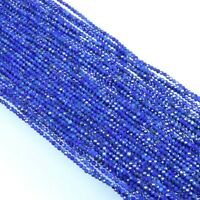 "13"" BLUE COATED LAPIS RONDELLE FACETED BEAUTIFUL GEMSTONE LOOSE BEADS 3-4 MM,"