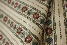 Fabric Antique French Geometric Design Striped Clothing Cotton unused 1800s rare