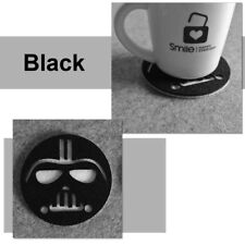 1PC Star Wars Cup Drinks Holder coffee felt Mat Tableware  Placemat Black/White