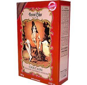 Chestnut Brown Henna Hair Dye Colour Henne Natural Mehendi Powder 100g UK