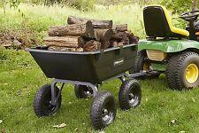 Dump Cart For Lawn Tractor Garden With Big Wheels Gorilla ATV GOR6PS NEW Design