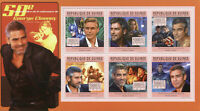 Guinea Famous People Stamps 2011 MNH George Clooney Batman Celebrities 6v M/S