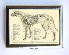 Animal Anatomy Dog Skeleton Cigarette Case Wallet Business Card Holder