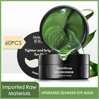 Anti Aging Dark Circle Collagen Green seaweed Eye Patches Pad Mask Bag Gel