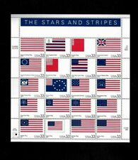 1999 STARS AND STRIPES, U. S. POSTAGE STAMP SHEET OF TWENTY 33 CENT STAMPS. MINT