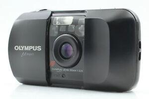 [ Exc+5 ] Olympus μ mju Black AF 35mm f/3.5 Point&Shoot Film Camera From JAPAN