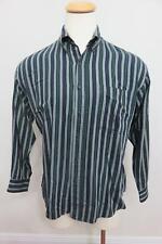 gant mens shirt cotton blend multicolor stripe button down long sleeve size L