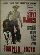 JUNIOR BONNER Steve McQueen Rodeo Peckinpah 1972 RARE EXYU MOVIE POSTER