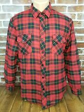 Incrowd Celebration Mens Insulated Flannel Lumberjack Shirt Red Black Sz Medium