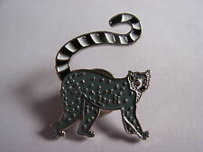 Ring tailed Lemur pin badge. Ape Chimp Monkey. Nice large item