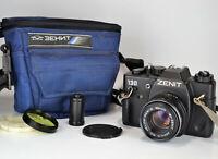 "NEAR EXC! BELOMO USSR ""ZENIT-130"" SLR camera + MC HELIOS-44M-6 LENS, f2/58mm"