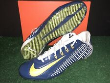 NIKE VAPOR CARBON 2.0 ELITE FOOTBALL CLEATS CHARGERS NAVY GOLD MEN'S SIZE 11.5