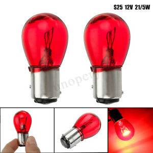 2PCS RED 12V 21/5W BAY15D 1157 380R 380 Bulb Car Auto Brake Stop Tail Rear Lamp