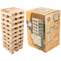 Giant Jenga Tower Wooden Blocks Outdoor Family Garden Game Kids Fun 1.2m Large
